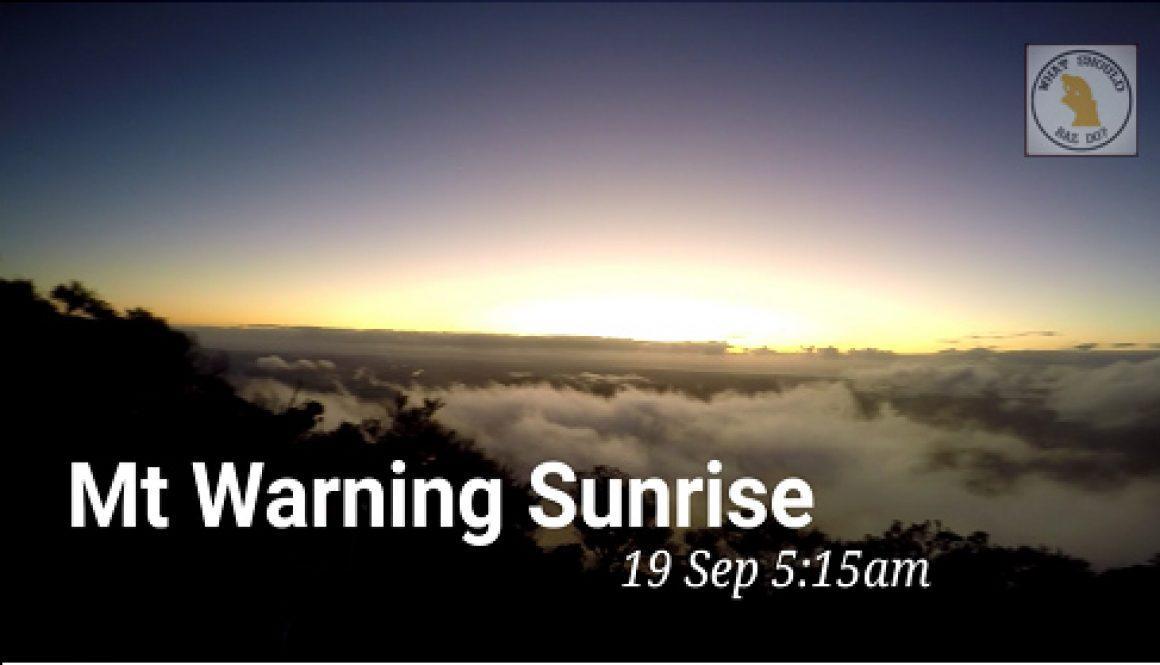 Mount Warning Sunrise